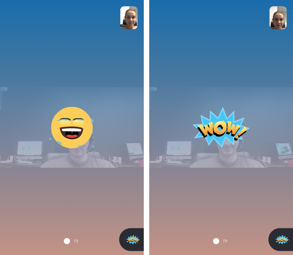 Skype reactions