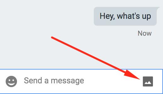 Google Hangouts 'Send Image' icon