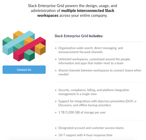 Slack enterprise grid