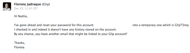 Glip customer support