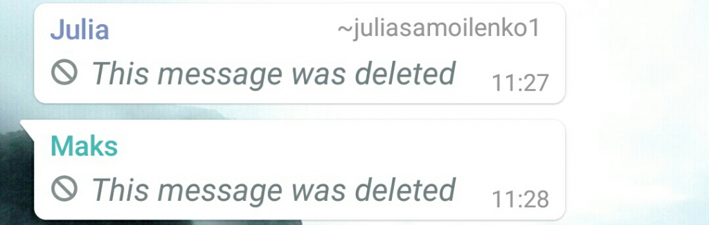 Delete for everyone feature in WhatsApp