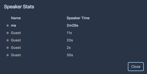 Speaker stats in Stride