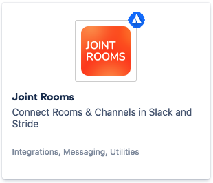 Joint Rooms app in Stride