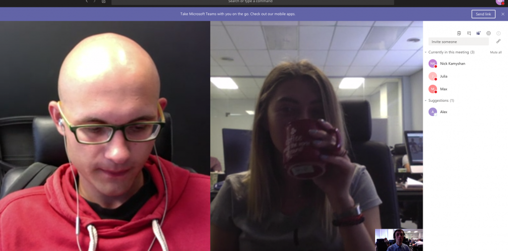 Chanty team is exploring video calls in Microsoft Teams