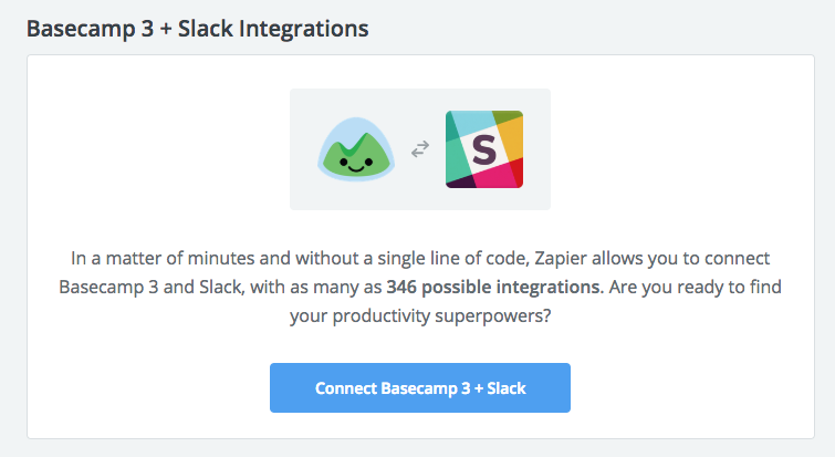 Basecamp's integrations