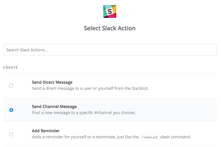 Slack action selection
