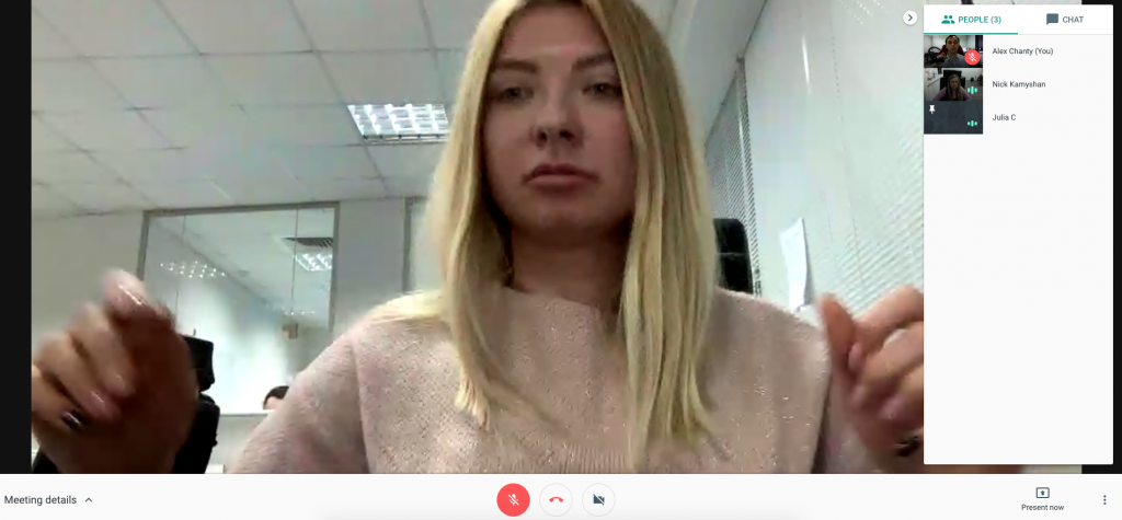 Chanty team is testing video calls in Hangouts Chat