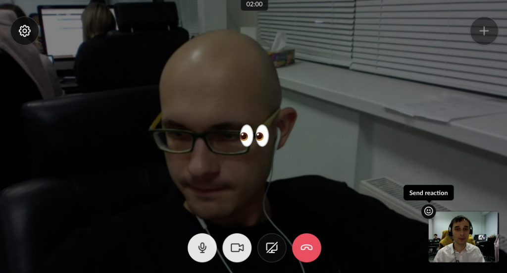 Emojis in Slack's video call