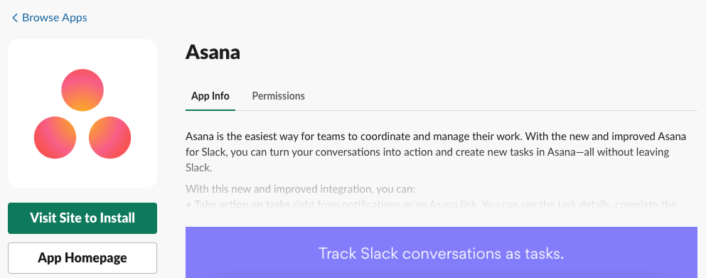 Connecting Asana to Slack