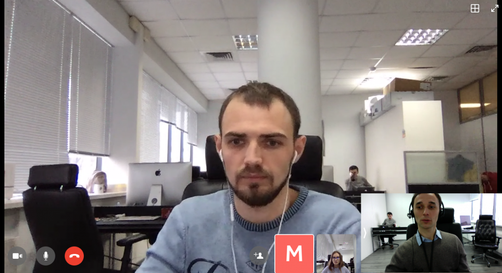 Making a video call in Workplace by Facebook