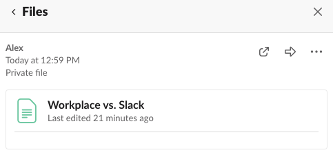Sharing a post in Slack