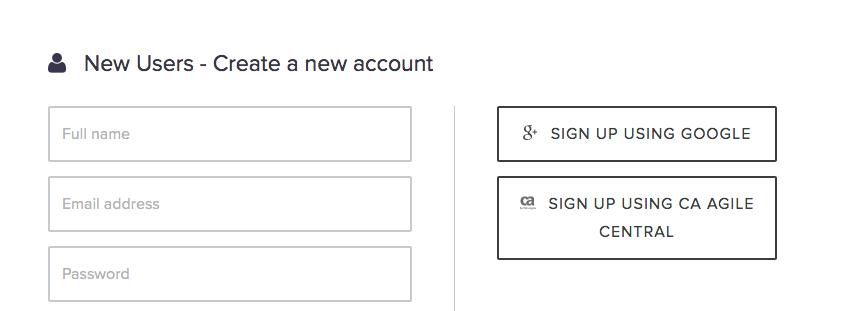 Flowdock sign up form