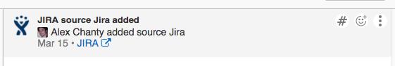 Jira's notification in Flowdock's integration box