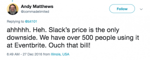 Slack pricing feedback