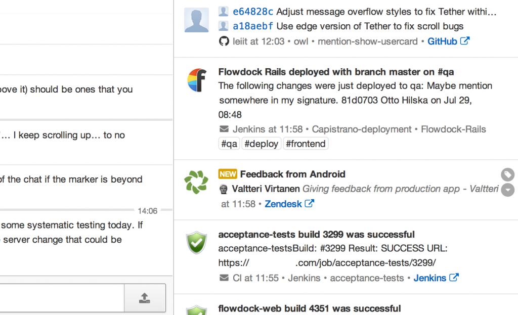Team inbox in Flowdock