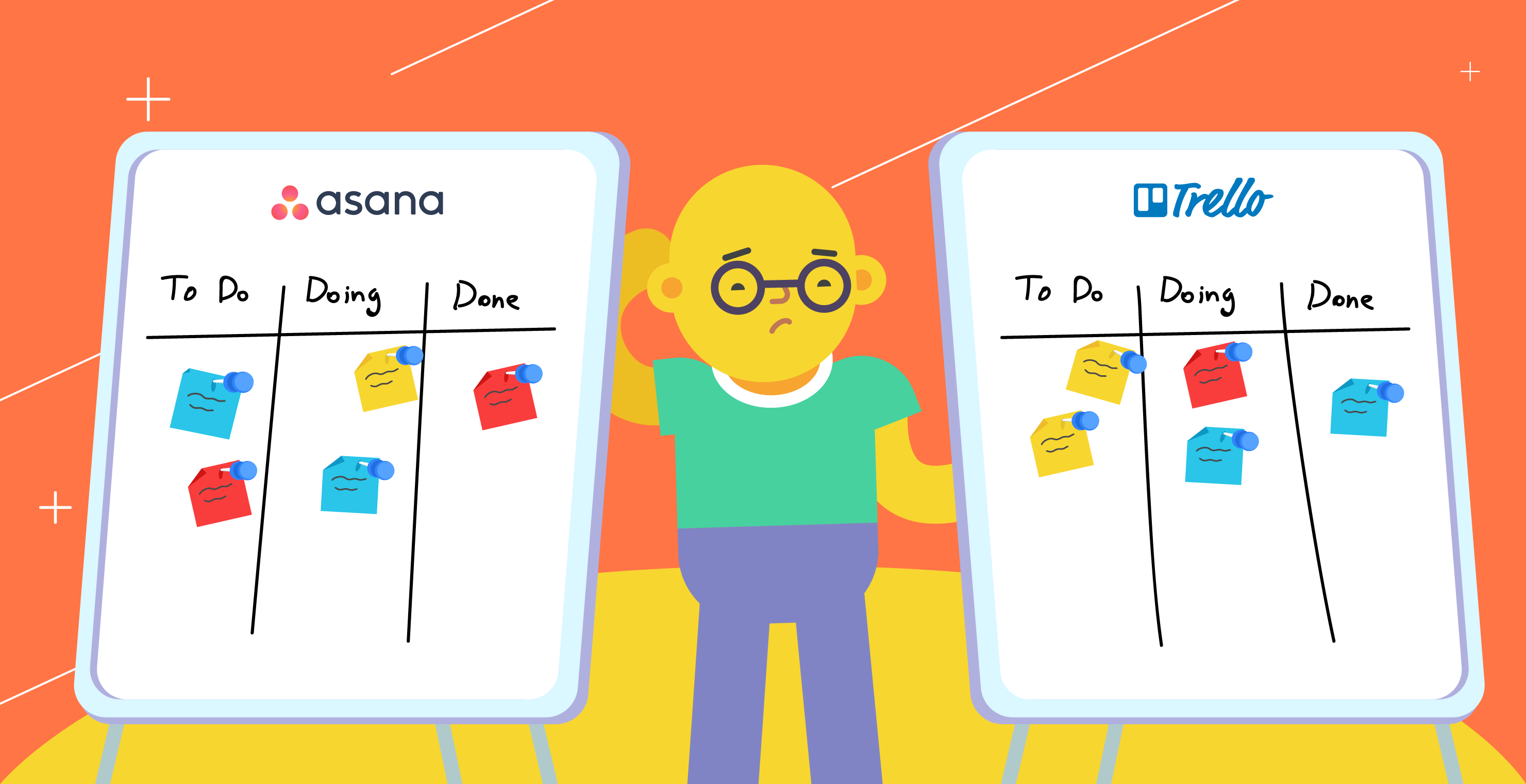 Asana vs. Trello by Chanty