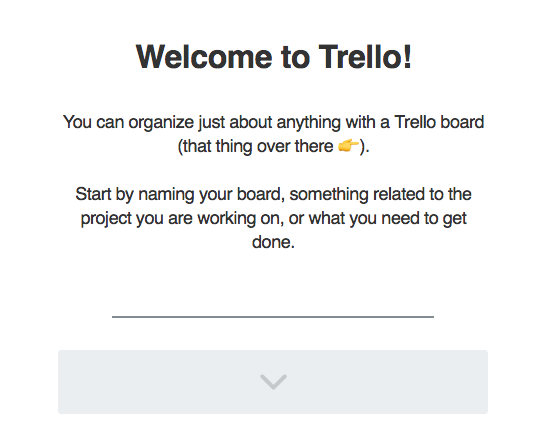 Product tour in Trello