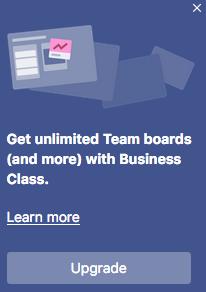 Team boards are limited in Trello