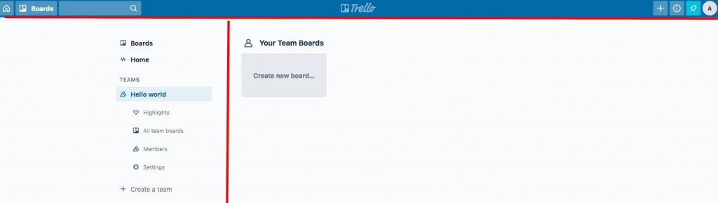 Trello user interface