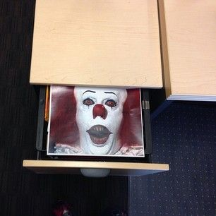 horrifying image in a desk drawer