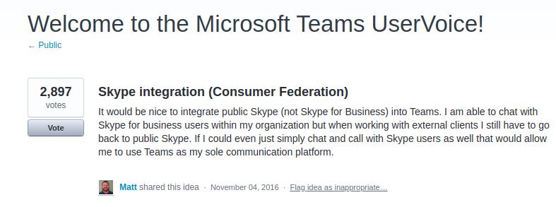 Skype-Microsoft interoperability