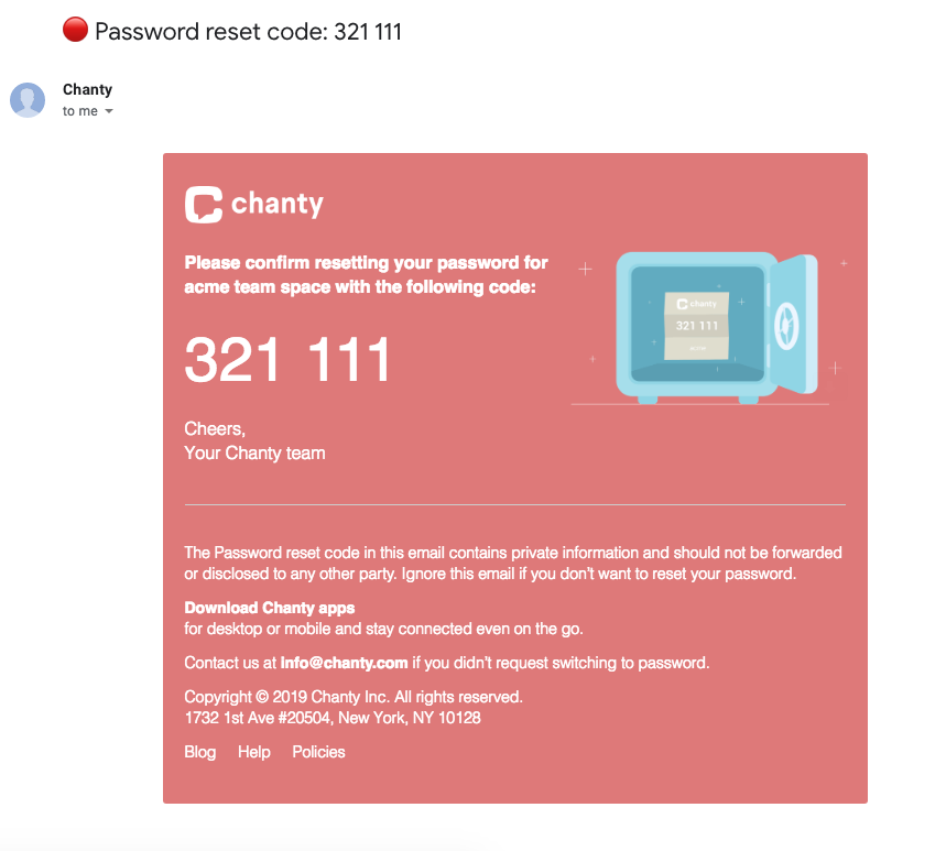 Reset forgotten password – Сhanty Help Center
