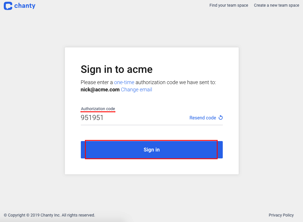 sign-in-acme-code