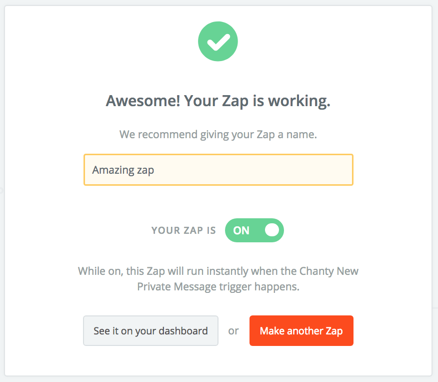 New-zap-created